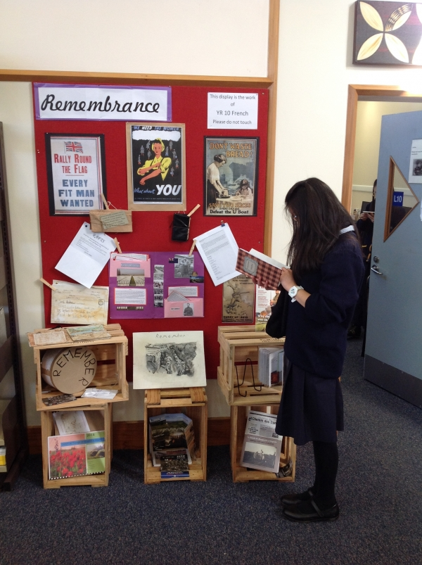 Remembering display in the school library
