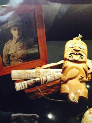 Ypres Museum - Display concerning Victor Spencer