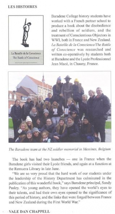 Baradene College Sharedhistories Project highlighted in a newspaper article