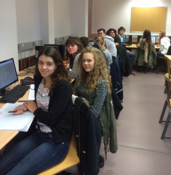 French pupils starting working on our project