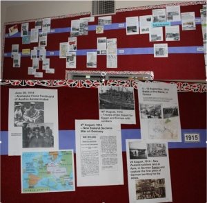 WWI Timeline Display