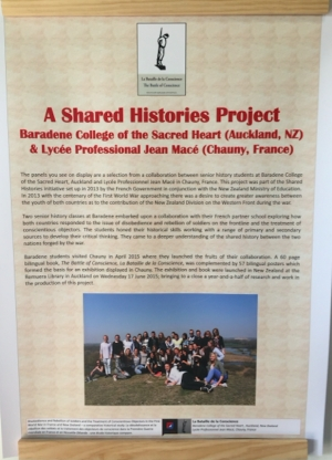 Shared Histories exhibition posters in Wellington