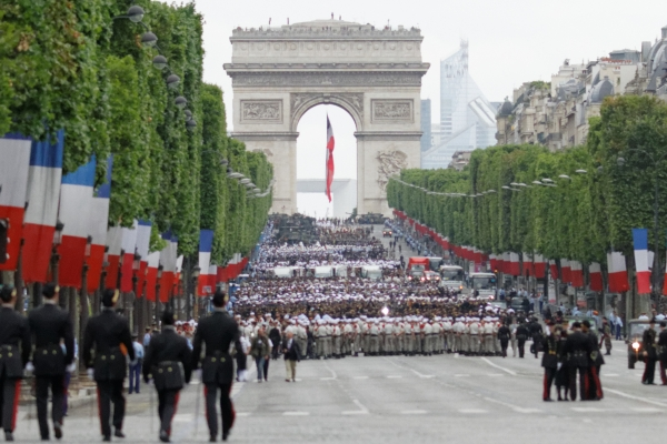 Bastille Day on the Champs Élysées - so excited!