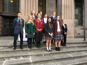 2016 Young Ambassadors outside The Great War Exhibition Museum