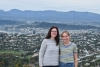 Emma and I taking in the stunning view of Wellington.