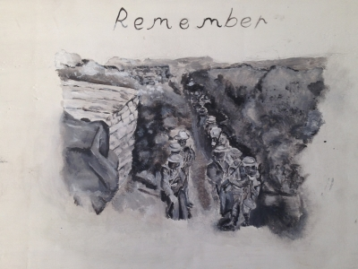 Battle of the Somme life loss prompts young artist
