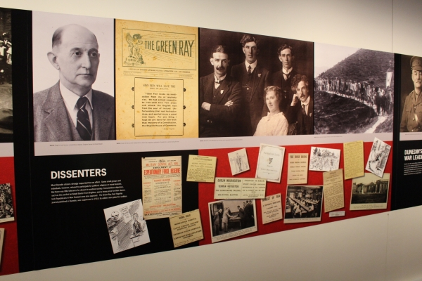 Dunedin Exhibition that features a display on Concientious Objectors